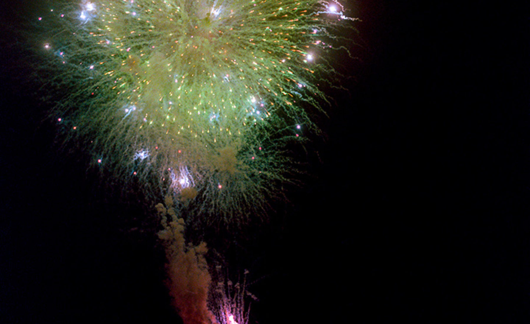 Fireworks very closely