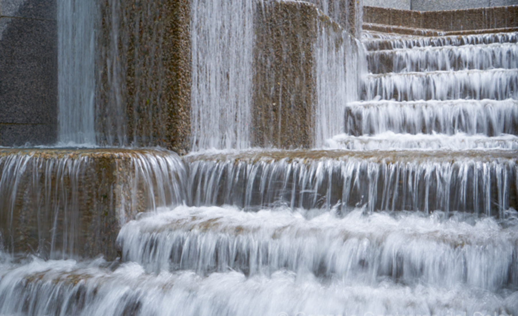 City water flow cascades