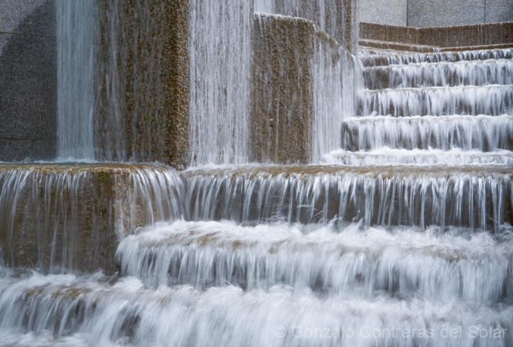 City water flow cascades