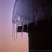 Icicles from different winters